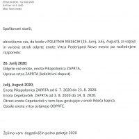Obvestilo o delu Vrtca Pedenjped Novo mesto v poletnih mesecih