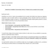 Obvestilo staršem o delovanju vrtca od 26.10. do 30.10.2020