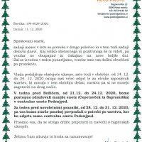 Obvestilo o delovanju vrtca od 14.12.2020