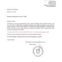 Obvestilo o delovanju vrtca od 1.2.2021