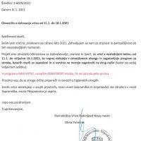 Obvestilo o delovanju vrtca od 11.1. do 18.1.2021